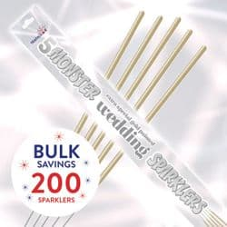 Gold Dipped Wedding 45 cm Monster Sparklers; Bulk buys available